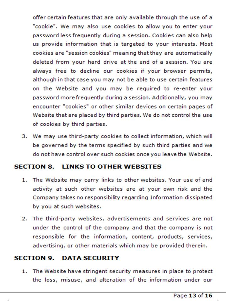 Privacy Policy 14
